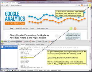 Checking Google Analytics events with Chrome Developer Tools