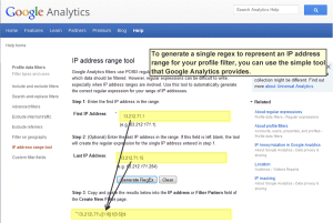Google Analytics IP Address Tool